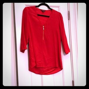 Michael Kors Red Top with Hold Sipper Detail Sz S
